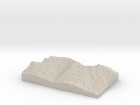 Model of South Peak in Sandstone