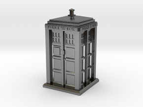 35mm/O Gauge Police Box in Polished Silver