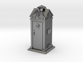 35mm/O Gauge AA Phone Box in Polished Silver