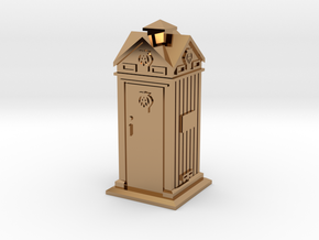 35mm/O Gauge AA Phone Box in Polished Brass