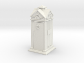 35mm/O Gauge AA Phone Box in White Strong & Flexible
