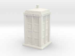 35mm/O Gauge Police Box in White Natural Versatile Plastic