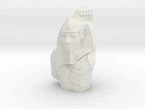 28mm/32mm Younger Memnon/Ramesses/Ozymandias in White Strong & Flexible