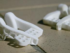 Noseclipv11L in White Natural Versatile Plastic