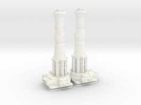 TURBOLASER TOWER CANNONS 1/72 Plastic  in White Processed Versatile Plastic