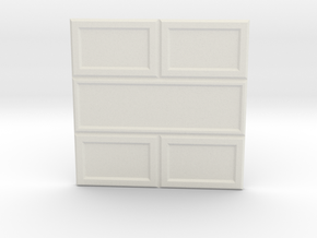 Paneled Wall 002 in White Natural Versatile Plastic