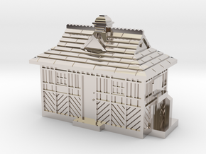 N Gauge - Cabmen's Shelter  in Rhodium Plated Brass