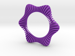 Floors Bracelet 01 in Purple Processed Versatile Plastic
