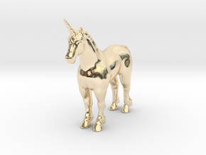 Unicorn in 14k Gold Plated Brass