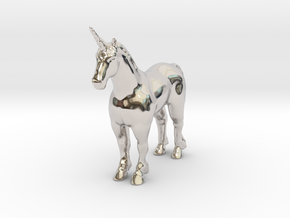 Unicorn in Rhodium Plated Brass