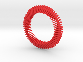 Floors Bracelet 03 in Red Strong & Flexible Polished