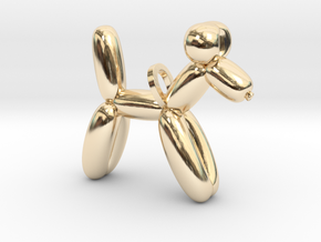 Balloon Dog in 14k Gold Plated Brass