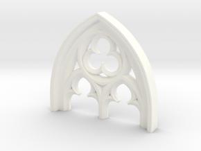 Gothisches Fenster Detail B in White Processed Versatile Plastic