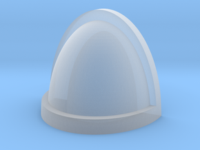 Customisable shoulder pad with edge in Smooth Fine Detail Plastic