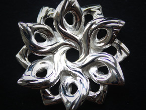 Compassion Pendant: Small in Polished Silver