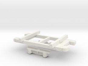 Gn15 sand hutton wagon chassis (1:27.5) for FUD in White Strong & Flexible