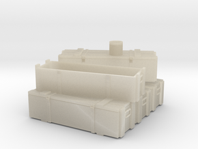 Proyectiles 105 Y Cajas-H0-proto-01 in White Acrylic