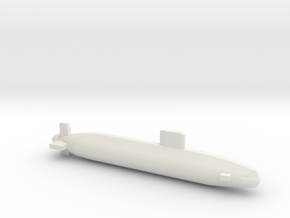 Trafalgar Class SSN, Full Hull, 1/1800 in White Natural Versatile Plastic