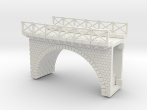 NV3M7 Small modular viaduct 1 track in White Natural Versatile Plastic