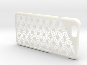 "iPhone6/6s Case ""Asanoha"" in White Strong & Flexible Polished"