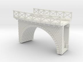NV3M12 Small modular viaduct 1 track in White Natural Versatile Plastic