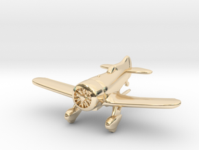 1:144 Gee Bee Model Z Racer Plane in 14K Yellow Gold