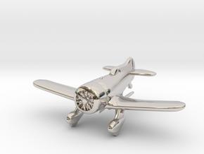 1:144 Gee Bee Model Z Racer Plane in Platinum