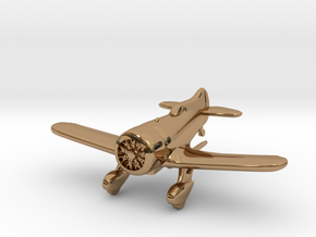 1:144 Gee Bee Model Z Racer Plane in Polished Brass