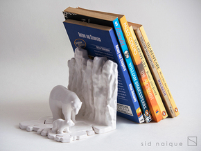Bookend - Arctic in Gloss White Porcelain