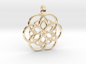 DEEP WATER STAR in 14k Gold Plated Brass