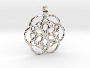 DEEP WATER STAR in Rhodium Plated