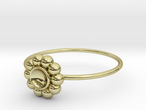 Size 7 Shapes Ring S5 in 18k Gold Plated Brass