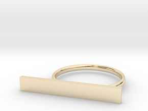 Customizable Space ring (Large) in 14k Gold Plated Brass