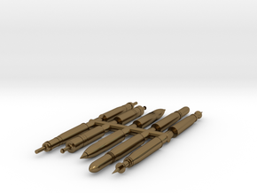 SET Proyectiles 105 blister-H0-proto-01 in Polished Bronze