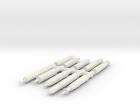 SET Proyectiles 105 blister-H0-proto-01 in White Natural Versatile Plastic