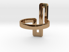 'UNTANGLED' - Ø17 in Polished Brass