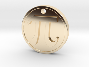 PI Pendant in 14K Yellow Gold