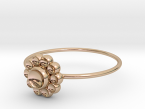 Size 8 Shapes Ring S4 in 14k Rose Gold Plated Brass