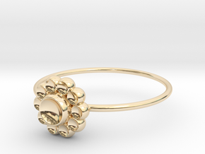 Size 9 Shapes Ring S4 in 14k Gold Plated
