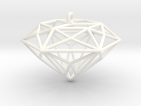 Diamond Ornament in White Processed Versatile Plastic