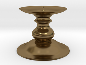 Candle Holder 1 in Polished Bronze