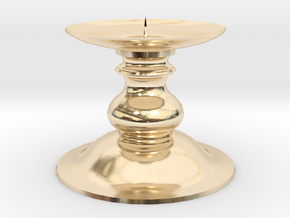 Candle Holder 1 in 14k Gold Plated Brass