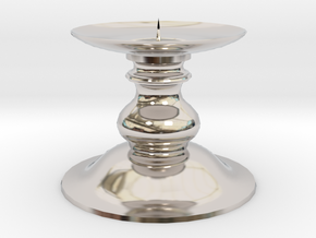 Candle Holder 1 in Rhodium Plated