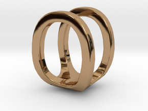 Two way letter pendant - OU UO in Polished Brass