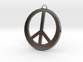 Peace Sign in Polished Silver