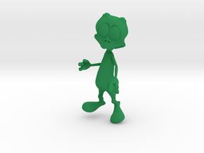 Toon Alien in Green Processed Versatile Plastic
