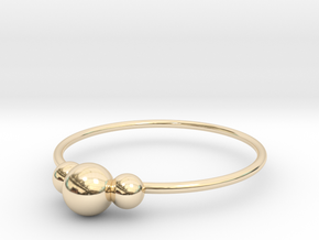 Size 9 Shapes Ring S2 in 14k Gold Plated Brass