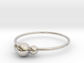 Size 10 Shapes Ring S2 in Rhodium Plated Brass