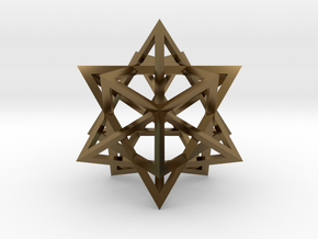 Tetrahedron 4 Compound in Polished Bronze