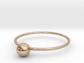 Size 8 Shapes Ring S1 in 14k Rose Gold Plated Brass